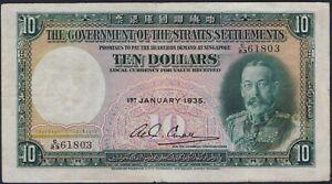 Straits-Settlements-10-dollars-1935-VF-Pick-18b