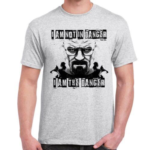 I am Danger-Breaking Bad inspired walter white tshirt Mens amusing Tshirts