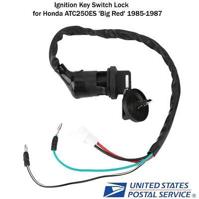 New Ignition Key Switch for Honda ATC250 ES Big Red 1985 1986 1987 35010-HA0-680 35010-HA0-681