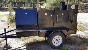 Mini-RibMaster-Mobile-BBQ-24-Grill-Smoker-Trailer-Food-Truck-Vending-Concession