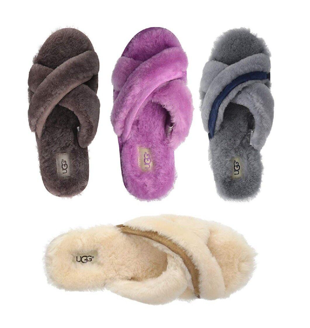 UGG Soft Abela Slide Slippers Chaussures Femme Sandal Slate Naturel Rose Nouveau