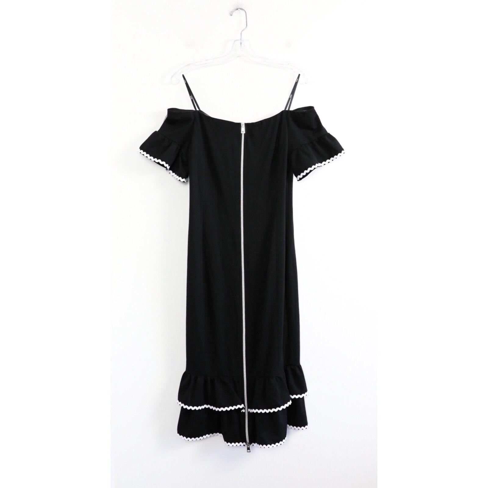 Tenax little black dress form fitting front zip 5… - image 2