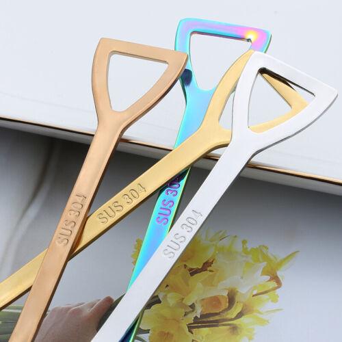 Stainless Steel Shovel Teaspoon Coffee Dessert Spoon Flatware Gift Idea 7 Color
