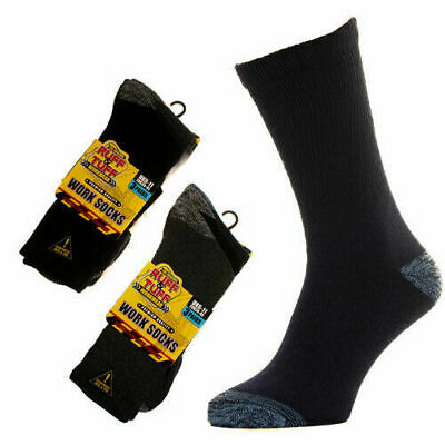 Mens Heavy Duty Cushioned Cotton Work Socks for Steel Toe Boots Big Foot 11-14