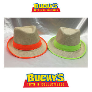 a6b0a45a836e76 Child Fedora Burlap Hat Boys Girls Summer Straw Beach Sunhat Neon ...