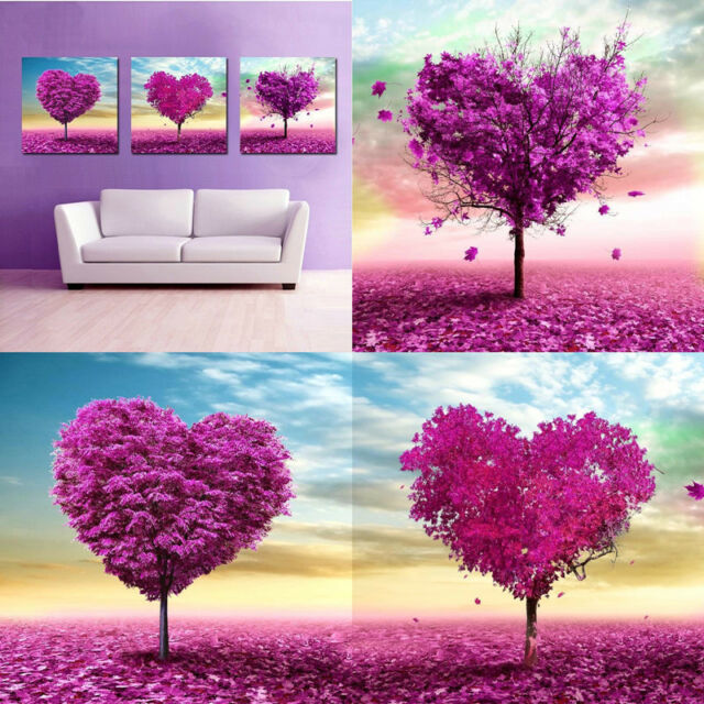 1pc Heart Tree 5D Diamond Cross-Stitch Pasted Painting Scenery Home Room Decor