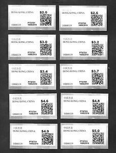 Hong Kong China 2019 Postage Label 10v Tst Sticker Tsim Sha Tsui Post Office Ebay