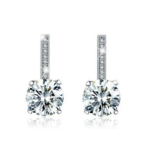 FASHION-ATTITUDE-18k-white-gold-gp-made-with-Swarovski-crystal-stud-earrings-2ct