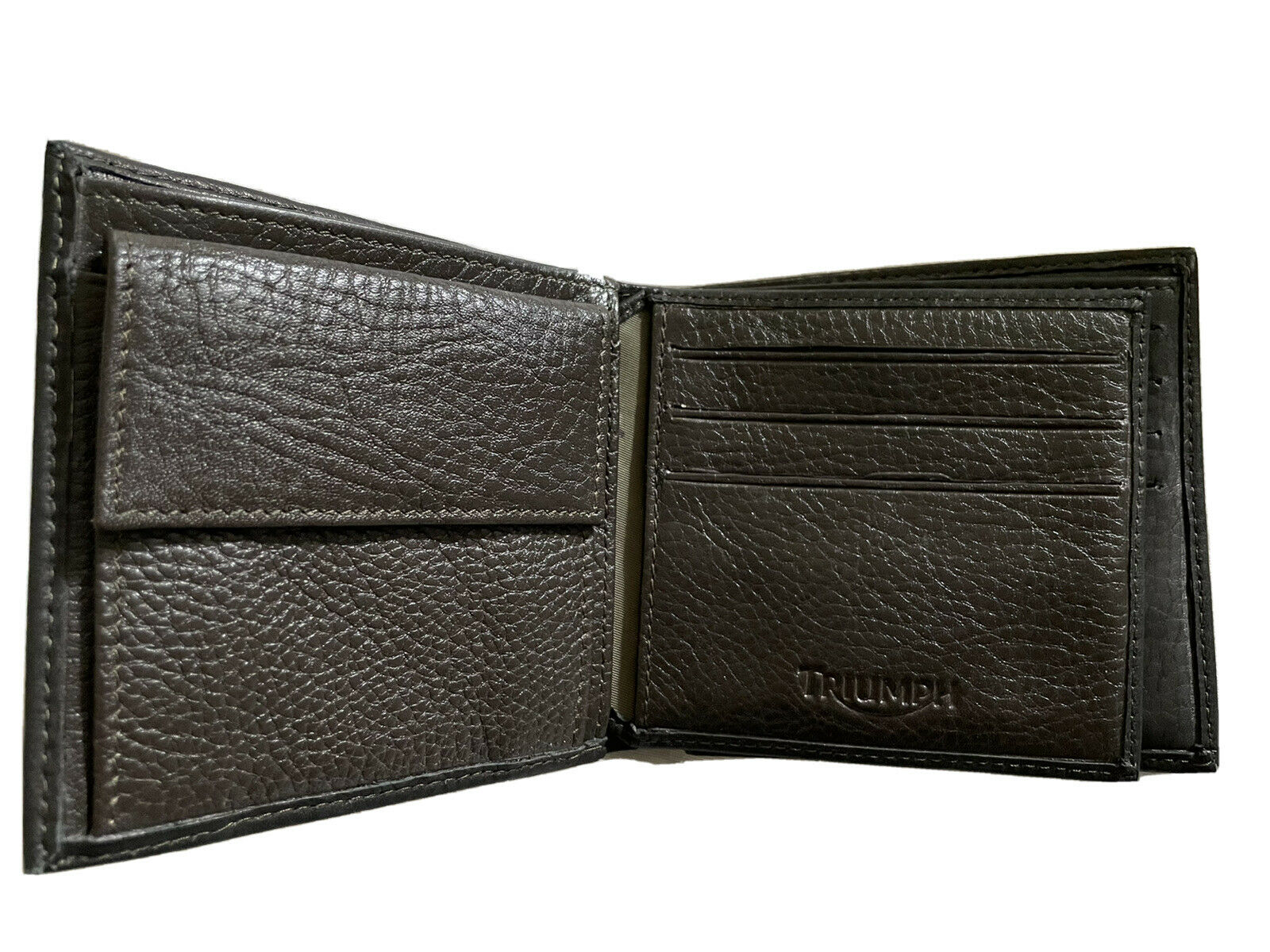 Genuine Triumph Motorcycle Leather Wallet Black-NWT
