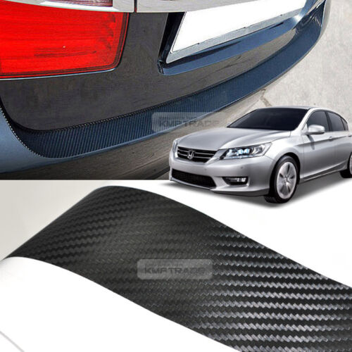 Carbon Rear Bumper Protector Decal Sticker Cover for HONDA 2013-2016 2017 Accord