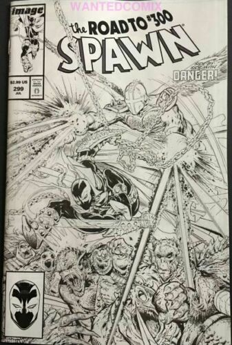 SPAWN #299 COVER C B/&W SKETCH McFARLANE VARIANT COVER THE ROAD TO 300 NEW 1 2019