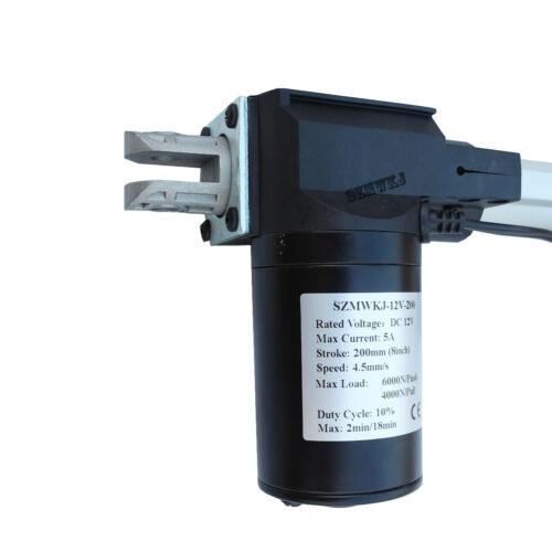 "Linear Actuator /&Controller /&Brackets 8/"" Stroke 12V 6000N Heavy Duty Lifting CL"