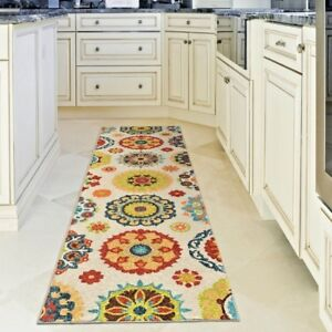 Details about RUNNER RUGS CARPET RUNNERS AREA RUG OUTDOOR CARPET COOL WHITE  PATIO KITCHEN RUGS