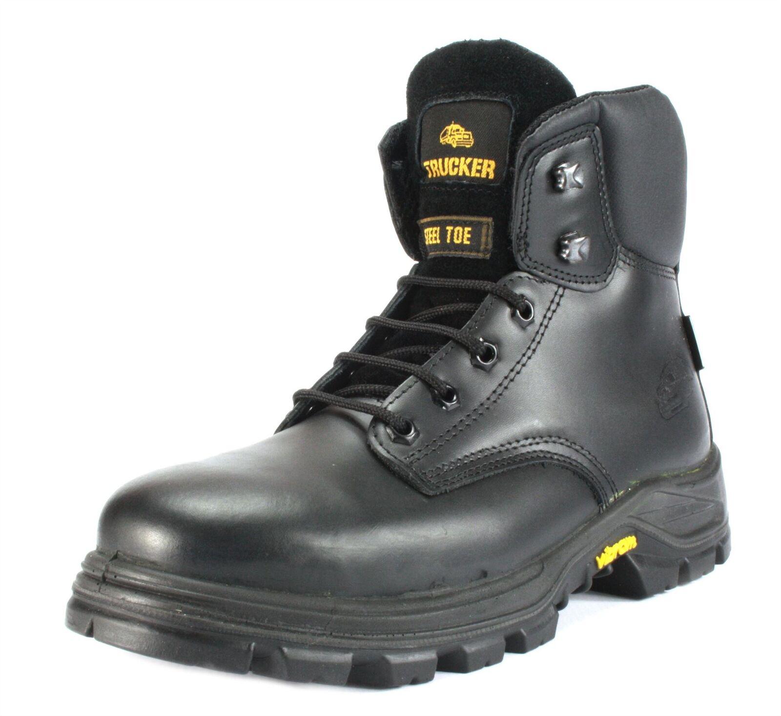 Aimont Jallatte Pioneer Vibram S3 Leather Steel Toecap Midsole Mens Lace Boots