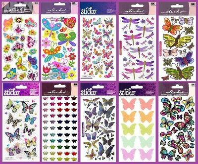 Mrs Grossman/'s Vellum DRAGONFLY Dragonflies BUG Scrapbook Stickers 3 Sheets