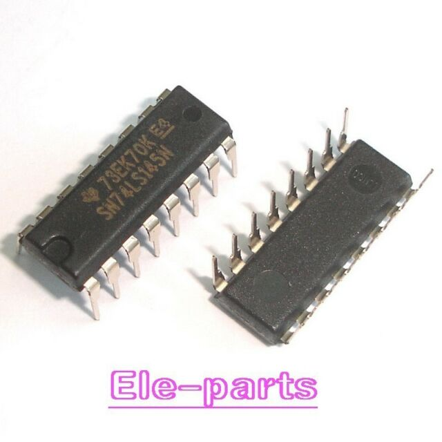 QTY: 4 PEZZI 74LS145 SN74LS145N 1-OF-10 DECODER//DRIVER OPEN-COLLECTOR PDIP-16