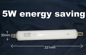 5W-ENERGY-SAVING-STRIP-LIGHT-BULB-221mm-warm-white-S15-cupboard-picture-lamp