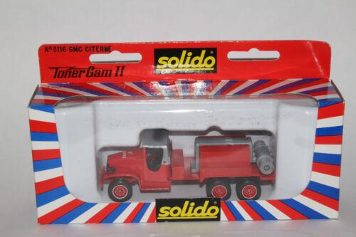 Boxed Solido 1950/'s GMC Fire Dept Compressor Tank Truck