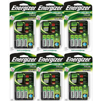 6 Pack Energizer Value Charger With Aa Rechargeable Nimh Batteries Chvcmwb-4 on sale
