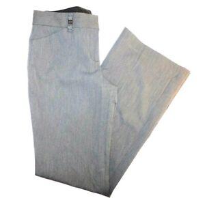 Express-Editor-Light-Gray-Flat-Front-Boot-Leg-Women-039-s-Pants-4R-30x33-034