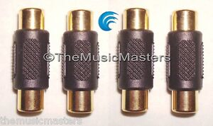 4X-RCA-Cable-Coupler-Splice-Female-Audio-Video-Connector-Jack-Adapter-Gold-VWLTW