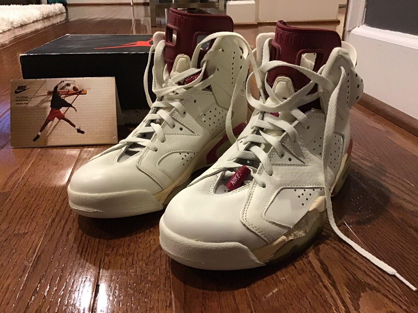 Air Jordan 6 Maroon Size 10 Men 1991 ORIGINAL NEW   RARE FIND