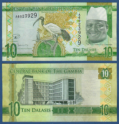 Intellective Gambia 10 Dalasis Unc P.32 2015