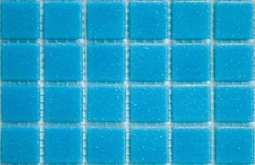 225 Matte Light Turquoise Vitreous Glass Mosaic 20mm Tiles A13
