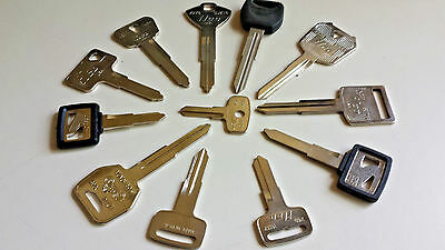 Yamaha-Kawasaki-Suzuki-Honda-Keys-Cut-by-Code-Number-Lost Motorcycle Keys  Made | eBay