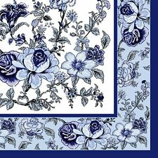 Flowers #32 Disposable Lunch Paper Napkins 3-Ply 60 Count Napkins