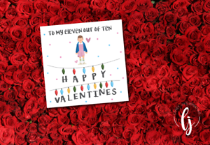 Stranger Things Valentines Day Greeting Card With Envelope Free P P