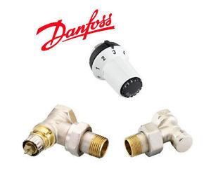 danfoss kit robinet thermostatique querre coud 1 2 avec. Black Bedroom Furniture Sets. Home Design Ideas