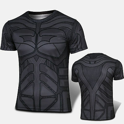 Homme Marvel Superhero T-shirt Jersey Tee Top Short Sleeve Sports Casual Costume
