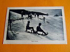 CPA CARTE POSTALE 1910-1920 LUGES SKI SPORT D'HIVER  MONTAGNE