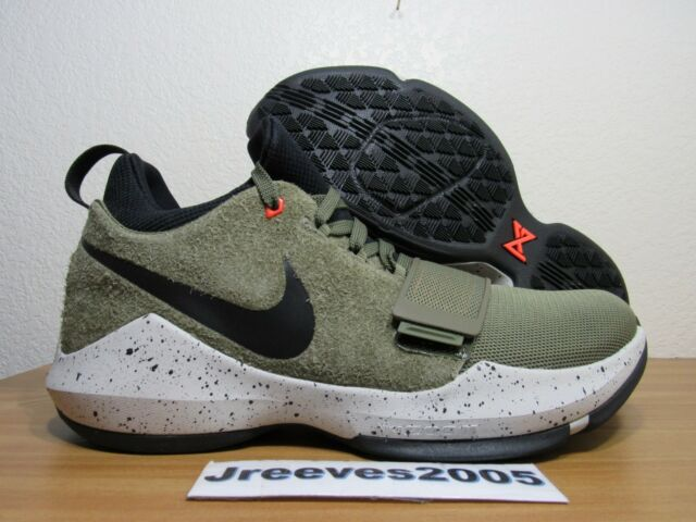 5626ce7326dd Nike PG 1 Elements Paul George Mens Size 10 Khaki Olive Green Black ...
