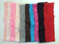10 Pcs 2 Wholesale Baby Girl Lace Stretch Headbands.