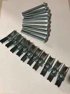 Lot-Of-10-Toggle-Bolts-1-4X3-Inch-1-4-x-3-034