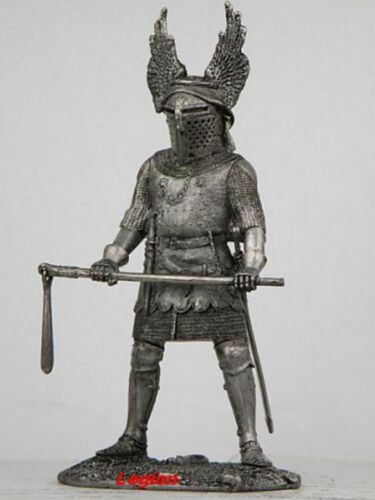 54MM 1//32 SV27 TIN FIGURES GERMANY KNIGHT WITH A CHAIN OF 12-13 CENTURIES
