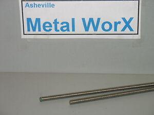 "3/8"" - 16 Threaded Rod Stainless Steel 18-8 304 2 pcs 12"" Long"