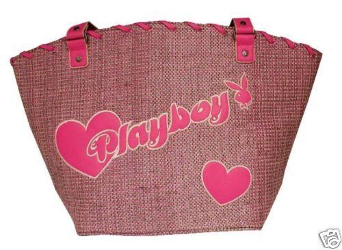 Playboy Nuovo Di Zecca Grande Borsa A Tracolla Rosa