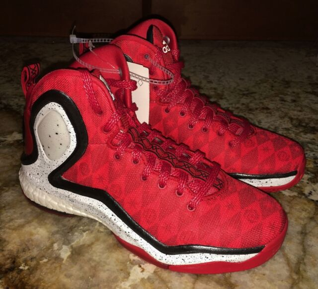 b29e6aa2af6b ADIDAS D Rose 5 Boost Red Basketball Shoes Sneakers Boys Girls NEW Youth 4  4.5 5