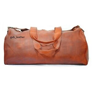 24-034-Men-Genuine-Leather-Large-Vintage-Duffel-Travel-Gym-Weekender-Overnight-Bag