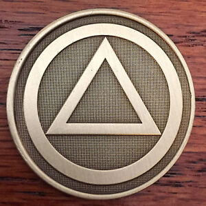 Circle-Triangle-Serenity-Prayer-Bronze-Recovery-Medallion-Coin-Chip-AA