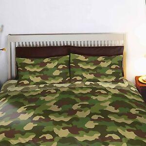 Couverture Camouflage camouflage armée réversible couverture double lit et taie d'oreiller