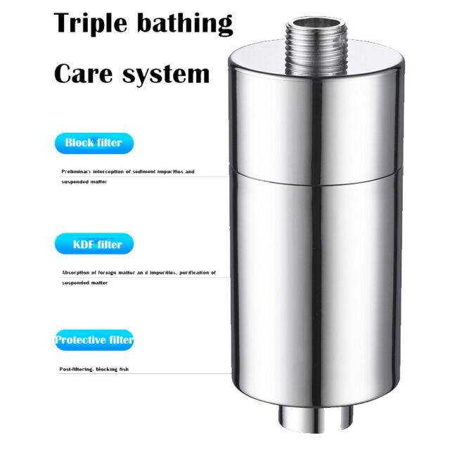 US Shower Head Filter Water Softener for Hard Water Chlorine Purifier Universal