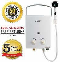 Marey Portable Tankless On Demand Hot Water Heater Rv / Camper Propane Gas 2 Gpm