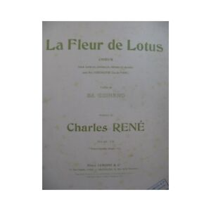 René Charles The Flower Lotus Singer Piano 1925 Partition Sheet