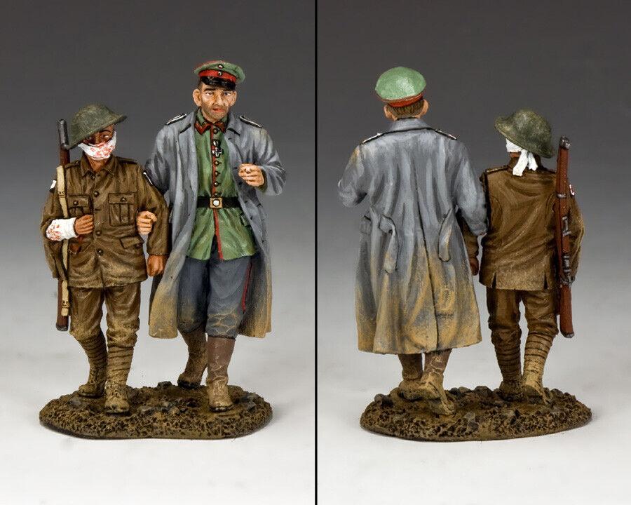 KING & COUNTRY FIRST WAR FW168 WW1 GERMAN ESCORT & WOUNDED BRITISH PRISONER MIB