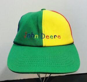 c4b913e9003 John Deere Kids Child s Hat Cap Multicolor Red Blue Yellow Spellout ...