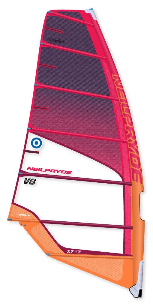 Neilpryde Windsurf Segel V8 C2 Red orange 2019 freerace leicht